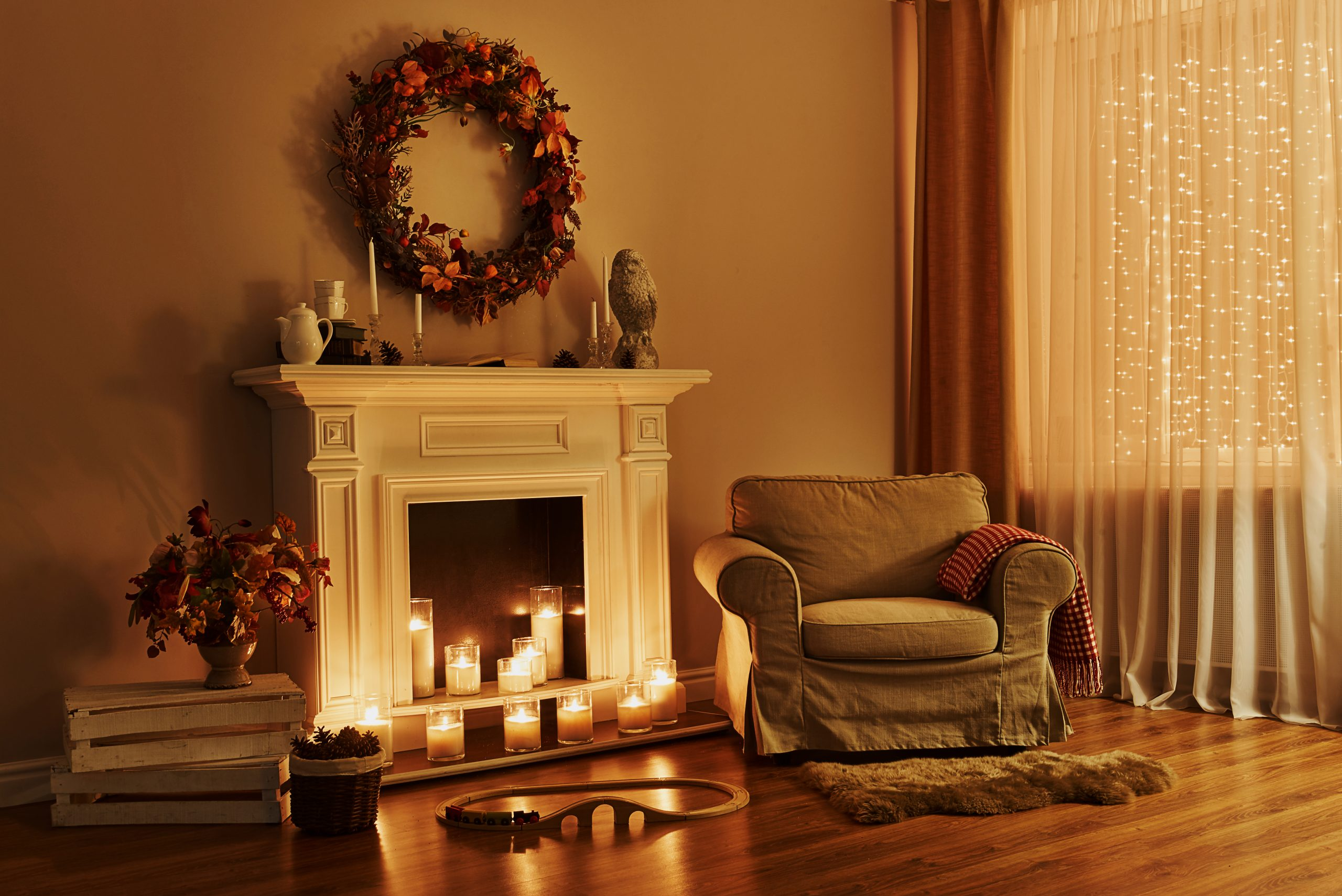 fall fireplace ideas